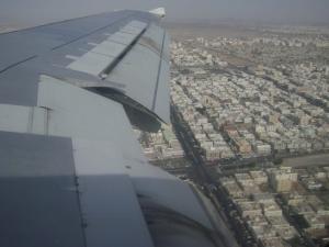 Pemandangan Jeddah dari atas kapal terbang